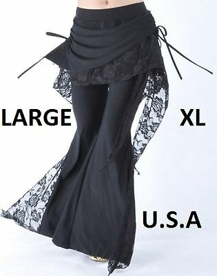 USA STORE FAST SHIP Large & XL Belly Dance Tribal  Melodia Yoga Pants Plus Size