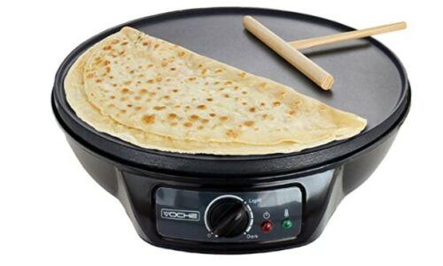 "Voche® 1000W Electric Pancake /& Crepe Maker with 12/"" Non Stick Hot Plate"