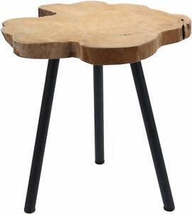 Teak-Beistelltisch-massiv-Holz-Tisch-Sofatisch-Couchtisch-Nachttisch-Dekotisch