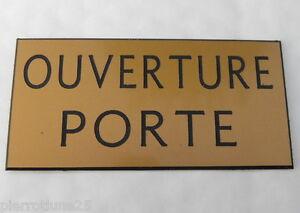 Plaque Gravée Ouverture Porte Signaletique Format 150 X 75 Mm Promouvoir La Santé Et GuéRir Les Maladies