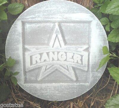 """U.S military Soldier  plaque plastic mold plaster concrete mould 7.75/"""" x 3//4/"""""""
