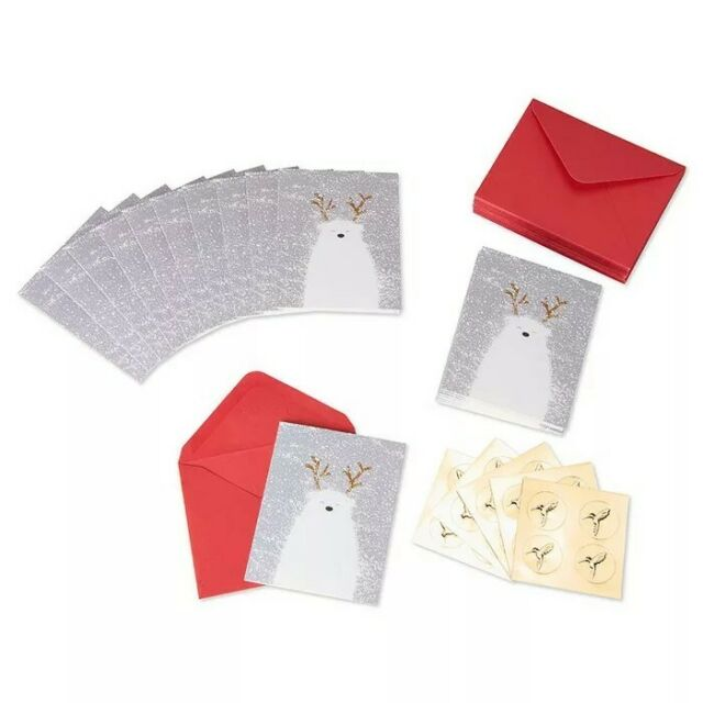 Papyrus Christmas Cards Boxed Holiday Polar Bear 20-Count