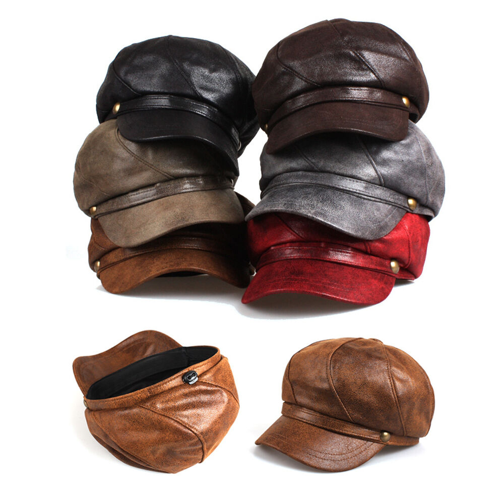 Unisex Mens Gloss Cap Bakerboy Flat Cap Gloss Newsboy Adjustable Cabbie Gatsby Driver Hats 0e443c