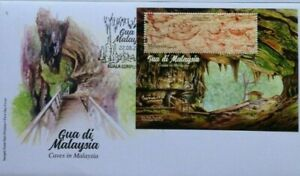 Malaysia FDC with Miniature Sheet (22.08.2019) - Caves in Malaysia