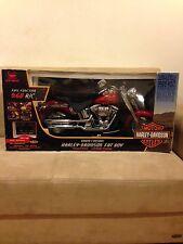New Bright Harley Davidson Red Fat Boy Motorcycle R/C Bike 1:4 9.6v NEW RARE!