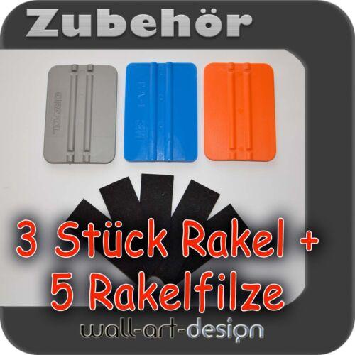 3M, Orafol, Gröner 3x Anreiberakel 5 Stück Rakelfilze Rakel für Car Wrapping
