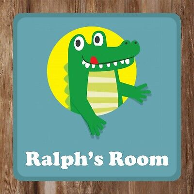 Crocodile Design Kids Bedroom Door Sign Personalised With Any Name Ebay