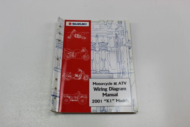 2001 Suzuki K1 Models Motorcycle U0026atv Wiring Diagram Manual