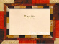 Natalini Mira Noce Hand Made In Italy Marquetry Brown Orange Photo Picture Frame