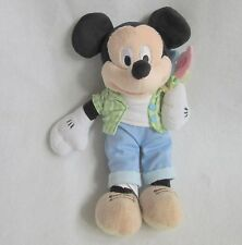 """Disney Store Spring Mickey Mouse Flowers Plush Soft Toy Bean Bag 10"""""""