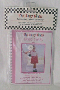 Sassy-Skein-Pattern-Children-Knitwear-Knit-Swirl-Dress-18-mo-2T-3T-4T-3007-Girl