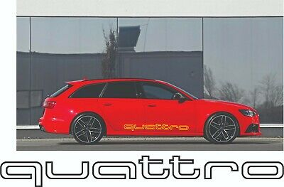 Audi Quattro sticker decal RS S line S3 S4 S5 S6 S7 S8 TT RS Q5 Q7 rear bumper