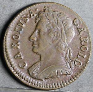 Charles II Copper Farthing, 1672. S.3394. EF, Weak Reverse Strike