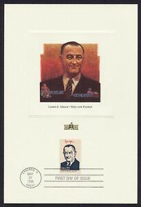 #2219i 22c Lyndon B Johnson, Fleetwood Proofcard Cualquier 5=