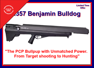 Details about Benjamin Bulldog BPBD3S PCP Air Rifle 357 Multi-Shot Brand  New, Hunting Power!!