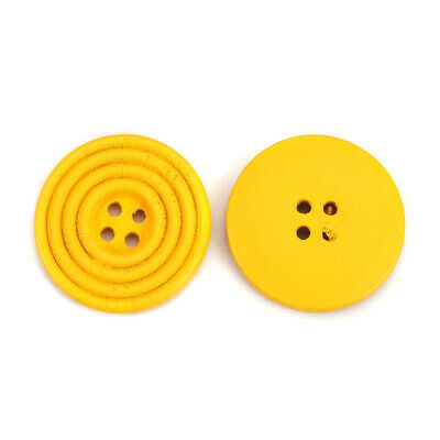 20 Yellow 25mm 4 Holes Sewing Buttons