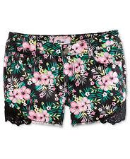 Epic Threads By Macy's Girls' Crochet Trim Shorts, Deep Black, Size 12, $28