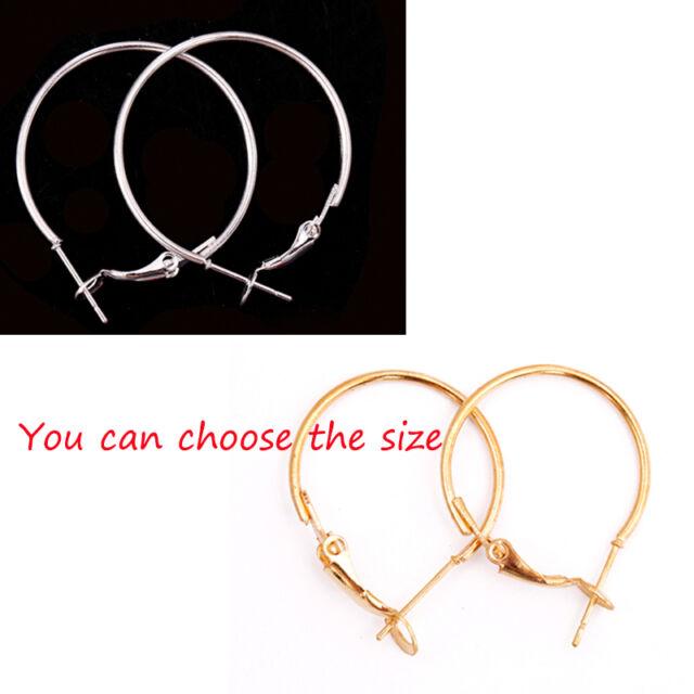 20pcs Lots Fashion Silver Round Circle Big Loop Hook Basketball Wives Earrings