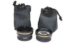 2 Lens Kit Hi Def Wide Angle & Telephoto Set for Panasonic Lumix DMC-G5 DMC-G5K