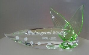 SWAROVSKI-SILVER-CRYSTAL-034-2008-2010-ENDANGERED-WILDLIFE-TITLE-PLAQUE-034-906929-MIB