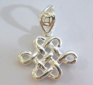 Mystic knot fengshui charm 925 sterling silver pendant luck mystical image is loading mystic knot fengshui charm 925 sterling silver pendant aloadofball Images