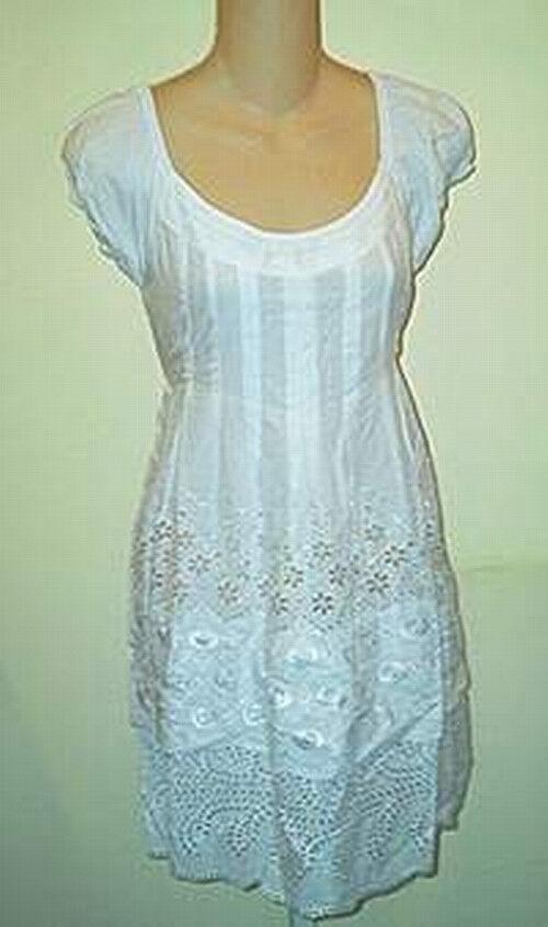 Cynthia Steffe NWT  285 100% CottonWhite Eyelet Tunic Mini Dress  4