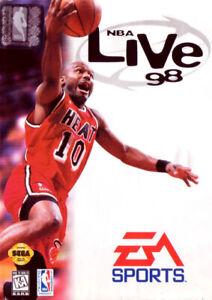 NBA Live 98 Sega Genesis Great Condition Fast Shipping
