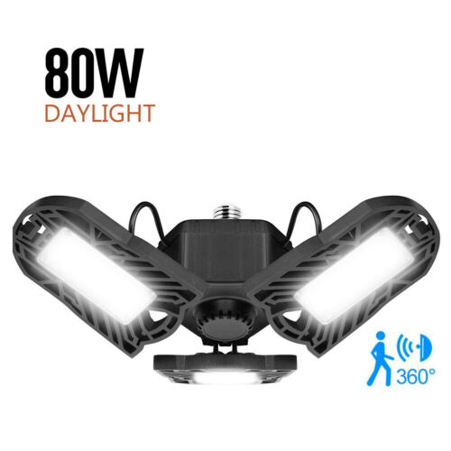 Motion Activated Ceiling Light 8000LM Led Deformable Garage Light High Intens A9