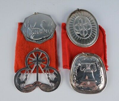 Vintage Lot 4 Towle 12 Days Of Christmas Sterling Silver ...