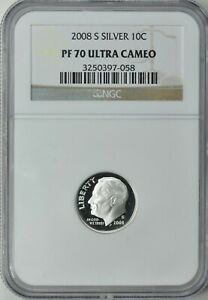 2005-S ROOSEVELT SILVER PROOF DIME 10c NGC PF70 ULTRA CAMEO