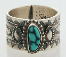 size 10 Sterling Silver intertwined 5mm wide band Handcrafted Navajo Ring