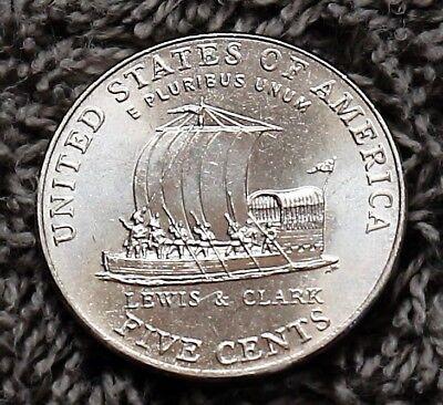 2004 D Jefferson Nickel Gem BU Keel Boat