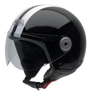 Casco-de-moto-Jet-NZI-Vintage-2-Evo-Classic-Negro-Blanco