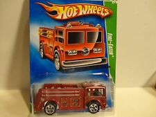 2009 Hot Wheels Treasure Hunt #46 Red Fire Eater w/5 Spoke Wheels