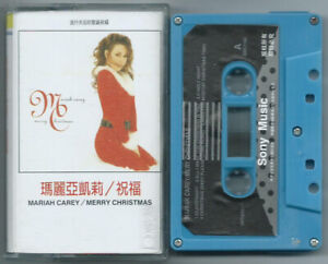 CASSETTE TAPE MARIAH CAREY Merry Christmas (Columbia/Sony 94 TAIWAN)unique cv NM