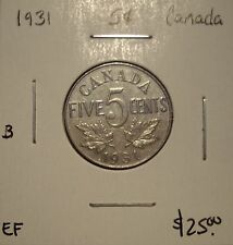 B Canada George V 1931 Five Cents -  EF