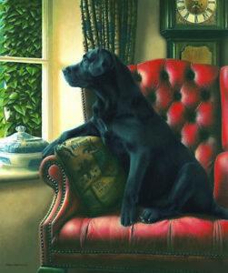 Nigel-Hemming-HOMEWARD-BOUND-Black-Labrador-Labs-Gun-Dogs-Signed-Art-Print