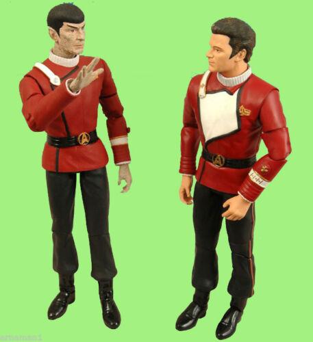 Spock in Movie Unfiorm Kirk 2 pack Action Figuren Rarität ovp STAR TREK II