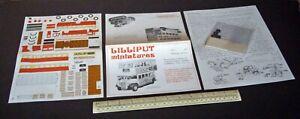 1930 London General Omnibus Type ST1 Lilliput Miniatures 00 Gauge Cut-Out 1970s