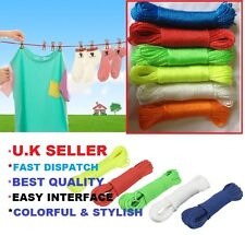 High Quality 20m PVC Outdoor Clothes Line Rope - Assorted Colours No Minky 'Rpe