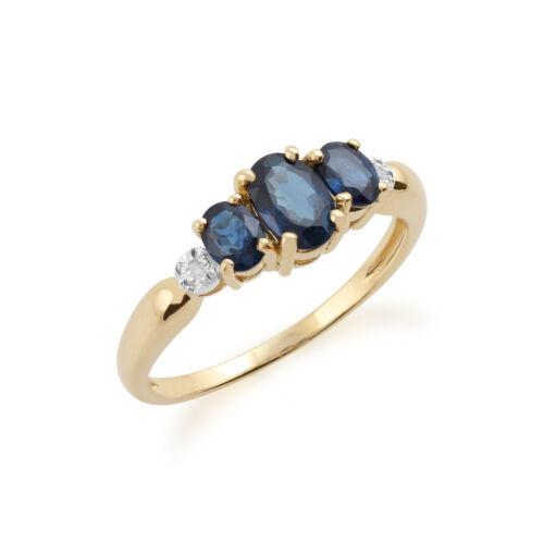 Gemondo 9ct Yellow Gold 1.03ct Sapphire /& Diamond Ring