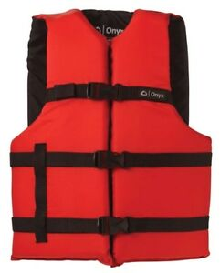 Onyx-General-Purpose-Universal-Life-Jacket-RED-USCG-Approved-CHOOSE-SIZE