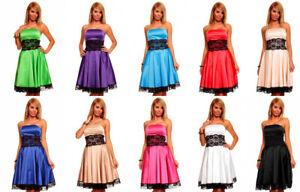knielanges bandeau kleid satinkleid ballkleid abendkleid
