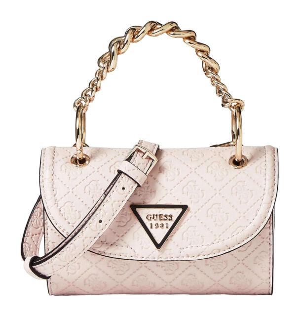 Guess Lyra Mini Crossbody Flap Stone, Women's Bag Shoulder Bag Crossover