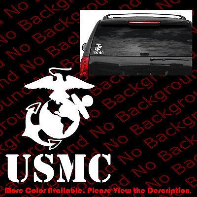 USMC United States Marine Corps Vinyl Car Decal Decals Sticker Window Wall AY012