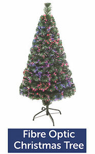 Green Fibre Optic Christmas Tree Colour Changing 3ft 4ft 5ft