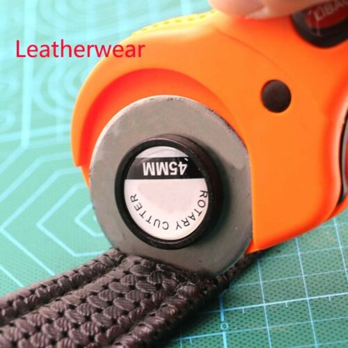 Rotary Cutter Set 45mm 5 pcs Blades for Circular Cut Cutting Leather Craft Tools