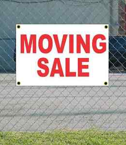 2x3 moving sale red white banner sign new discount size price