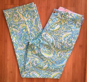 7abd697adf0b0c Lilly Pulitzer Men's 30 30.5 Derby Pants Mens Stuff Blue Yellow ...