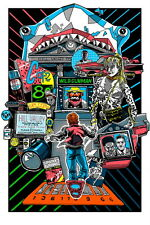 Back to the Future Glow in the Dark Print Poster Mondo Artist Tim Doyle S/N /200